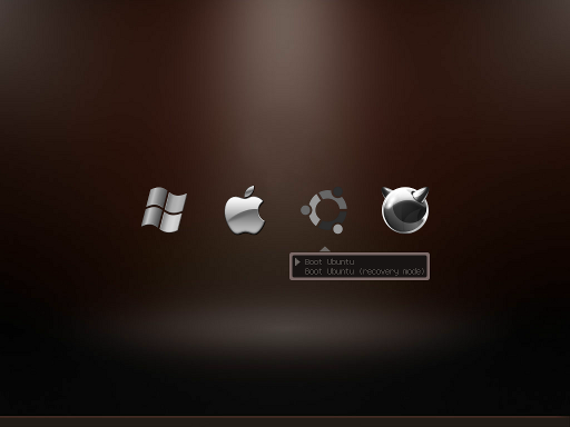 Get Animated, Themed, Icon Only GRUB Menu Using BURG - now